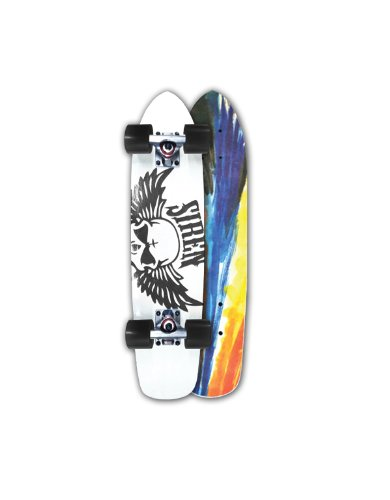 Siren Shredder 70's Fiberglass Cruiser Skateboard, Black