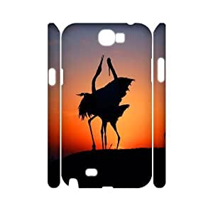Sunset Wholesale DIY 3D Cell Phone Case Cover for Samsung Galaxy Note 2 N7100, Sunset Galaxy Note 2 N7100 3D Phone Case