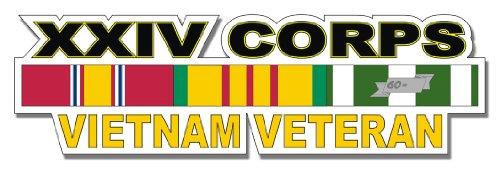 Military Vet Shop U.S. Army XXIV Corps Vietnam Veteran Window Strip Window Bumper Sticker Decal 3.8