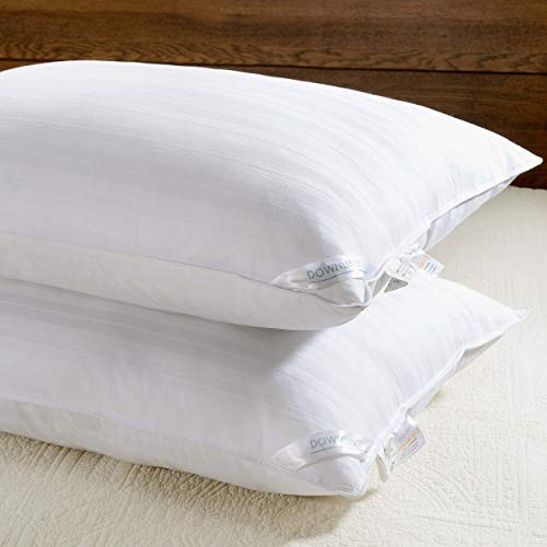 Size Bed Pillow King (downluxe Down Alternative Bed Pillows - Set of 2 Hotel Collection Plush Pillows for Sleeping,King Size 20x36)