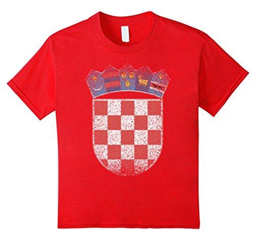 Arms T Shirt National Croatia Emblem tee 10 Red ()