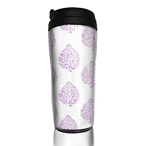Coffee Mug Mali Lavender Travel Tumbler Insulated Leak Proof Drink Containers Holder Customized 12 Ounces