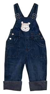 Disney - Pantalones de peto para niño azul de 100% algodón, talla: 92cm (24-36 meses)