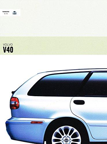 (2003 Volvo V40 Station Wagon 26-page Original Car Sales Brochure)