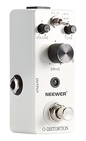 Neewer® Compact Classical Electronic Overdrive Guitar Effect Pedal True Bypass, Provides Two Tone Mode (High Peak / Low Peak Mode), Easy Controls with Great Responsive