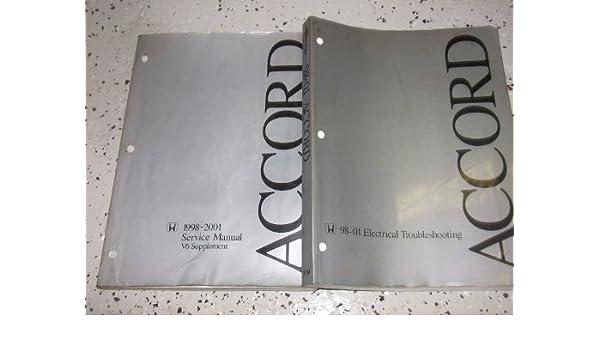 1998 1999 2000 2001 2002 honda accord service shop repair manual set
