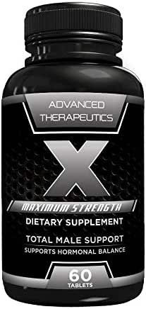 X Male Support Fat Burners for Men Boost Testosterone, Improves Performance with The Ladies, Size, Duration, Muscle Mass and Semen Volume and Motility. Total Men's Weight Loss Vitamin and Diet Pills