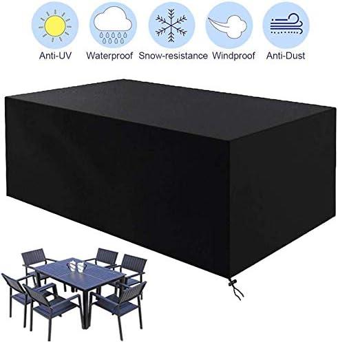 家具カバー ファニチャー 庭園家具屋外のテーブルと椅子のための抗UV通気性420Dオックスフォードファブリック防水長方形パティオセットカバーカバー(180 X 120 X 74センチメートル) ガーデン 庭用保護カバー シャンボ14011 (Size : 213 x 132 x 74 cm)