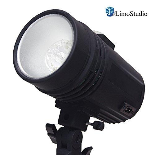 200 Watt Studio Flash/Strobe Light, Fuse, Test Button, Wireless Triggering Available, Umbrella Input, Mount on Light Stand, Professional Photography Use, Photo Studio, AGG2044 by LimoStudio