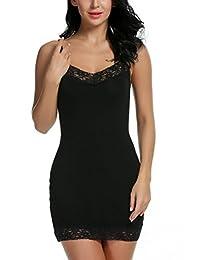 Avidlove Women's Chemise Nightgown Sleepwear Lace Lounge Dress Spin Slip