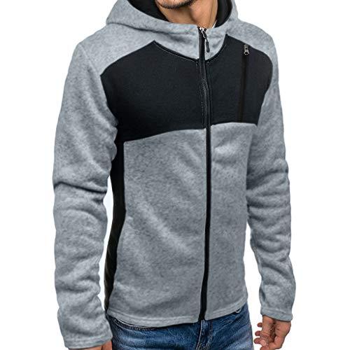 [해외]ykaritianna 남자의 슈퍼는 컬러 블록 거리 후드 재킷 접합 버튼 풀 오버 후드 스웨터 hoody 탑 남성용 / YKARITIANNA Men`s Super Swaggy Color Block Street Hood Jackets Splicing Button Pullover Hooded Sweatshirt Hoody Tops for Men