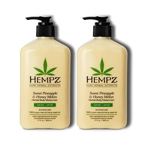 Hempz Sweet Pineapple & Honey Melon Moisturizing Skin Lotion, Natural Hemp Seed Herbal Body Moisturizer with Jojoba…