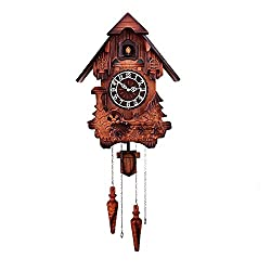Wooden wall clock black forest house cuckoo , 2
