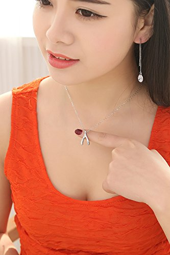 Thai Love Your Unique Wishbone Necklace Pendant Women Girls Chain Clavicle Short s925 Silver Accessories Women Gift Gift by PAGIPEN