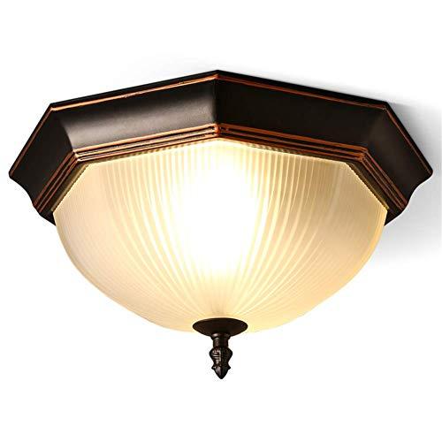 Lámparas de techo Octágono rural Vintage Base de hierro ...