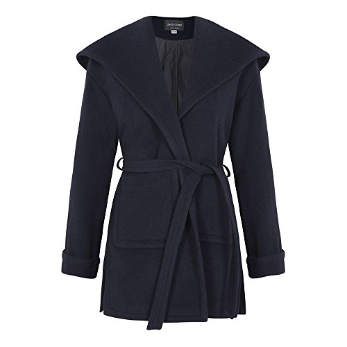 Wrap Wool Women`s Marine Cashmere Bleu Coat Anastasia Winter xqpBSx