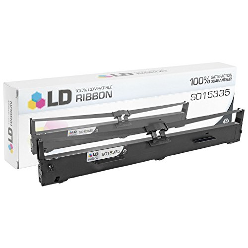 LD © Compatible Epson S015335 Black Printer Ribbon Cartridge for use in FX-2175, FX-2190, FX-2190N Impact Printer & LQ-2090