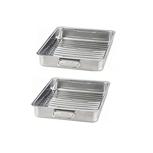 IKEA – KONCIS Roasting pan with grill rack, stainless steel 2, 16×13