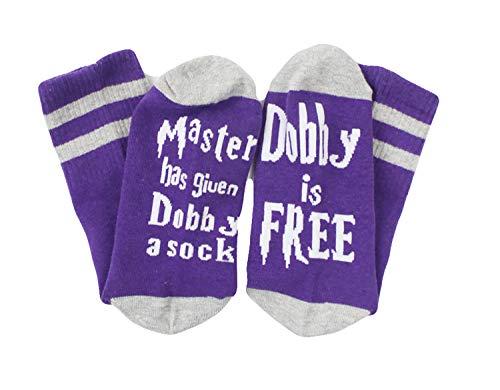 COCOL Master Has Giuen Dobby a Sock Dobby is Free Socks Novelty Socks Christmas Socks Funny socks?Dobby6?