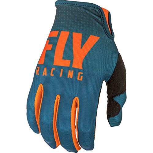 Youth Lite Racing Glove - Fly Racing 2019 Youth Lite Gloves (MEDIUM) (ORANGE/NAVY)