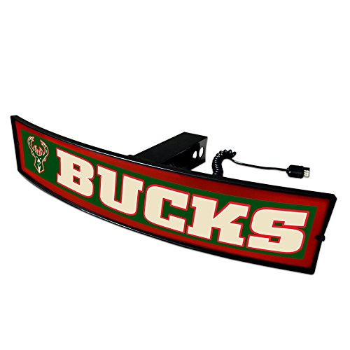 CC Sports Decor NBA - Milwaukee Bucks Light Up Hitch Cover - 21''x9.5'' by CC Sports Decor