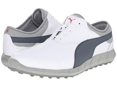 (プーマ) PUMA メンズゴルフシューズ靴 Ignite Golf White/Turbulence/High Risk Red 11 29cm D - Medium [並行輸入品]   B072HH9GCV