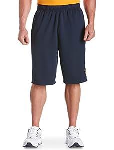 Reebok Big & Tall Play Dry Basketball Shorts (4XL, Navy Orange)