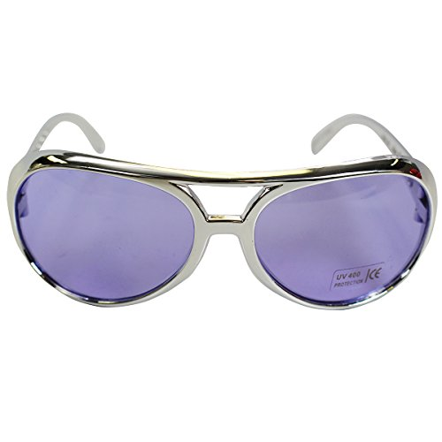 Glasses Party Sunglasses Lavender 70's By Hats Funny Aviator Elvis Costume Shades UtxgZ