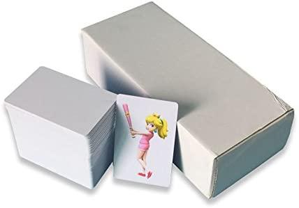 Tarjeta de PVC 30Mil CR80 para impresoras Epson y Canon de inyección de tinta, color blanco, color blanco 85.5* 54*0.76mm