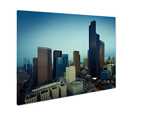 Ashley Giclee Metal Panel Print, Seattle Downtown Birdseye View Business America, Wall Art Decor, Floating Frame, Ready to Hang 8x10, AG6024499
