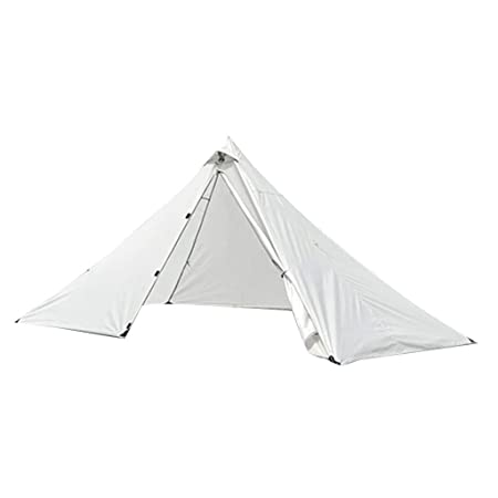 Prettyia Ultralight Pyramid Tent Camping Trekking Pole Tent Waterproof Backpacking Travel Beach Outdoors
