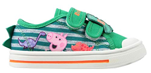 (George Pig Boys Garibaldi Low Top Casual Trainers Green 6 UK Child)