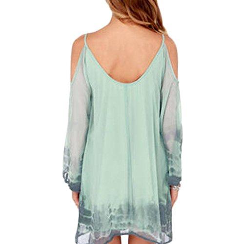 Damen Rückenfrei Trägerlos VAusschnitt Sling Kleid Beachwear Minikleid  Strandkleider Freizeitkleid