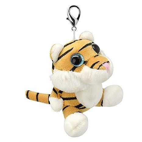 ORBYS Wild Planet 10cm Luxury Handmade Tiger Soft Toy. Keyring ...