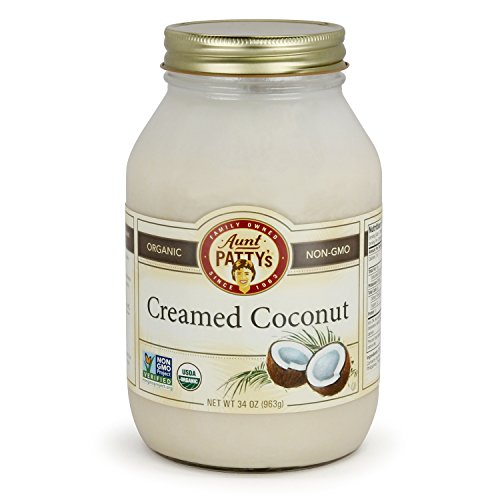 - Aunt Patty's Organic Coconut, Creamed, 34 Ounce