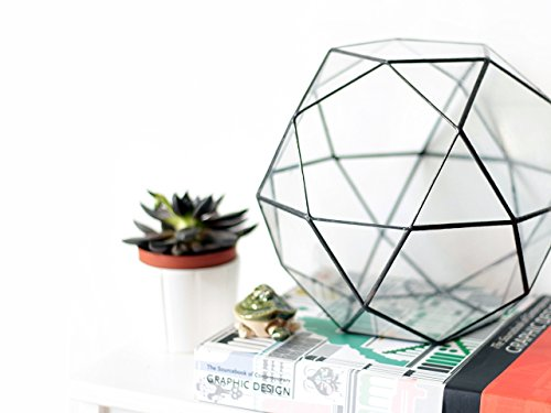 Large Glass Terrarium Container, Geometric Indoor Planter, Stained Glass Terrarium, Moss Terrarium, Glass Bowl, Modern Succulent Planter by Waen by Waen