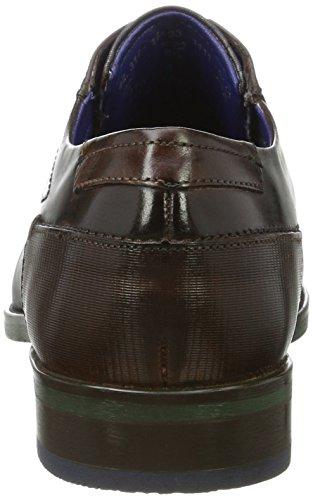 Uomo Dark 312164031111 Brown Marrone Dark Bugatti Blue Derby vwxaqpwE