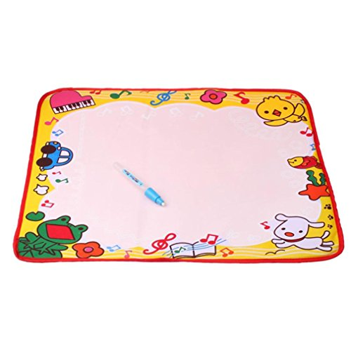 (Celendi Easter Magic Mat Gift, Celendi Water Drawing Writing Mat with Magic Painting Pen for Kids Toddlers Doodle Fun)