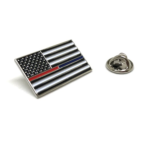 Red Blue Thin Line - USA Proudy Patriotic American Standard Official - Police Firefighter Lapel Pin Series Blue Usa Pin