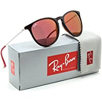 Ray-Ban Erika RB4171 54mm Mirrored Round Sunglasses (Brown/Red)