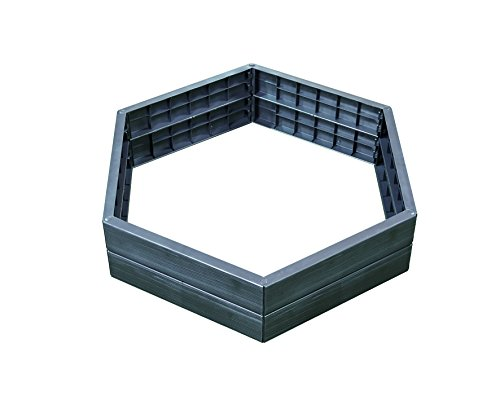(Exaco Trading Company Exaco 645100 Modern Modular Raised Bed - Hexagon Shape 2 Panels High)