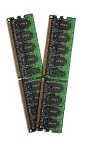 PNY 2 GB Kit (2x1 GB) DDR2 800MHz (PC2 6400) 240-Pin DDR2 SDRAM - MD2048KD2-800-V2
