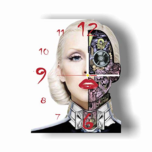 Original Handmade Wall Clock Christina Aguilera 11.8 Get Unique décor for Home or Office – Best Gift Ideas for Kids, Friends, Parents and Your Soul Mates