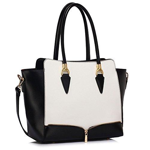 Taille blanc Femme Noir Élégance Fourre Style Main Sacs Leahward® Grete 456 Sac Celeb tout Betoulière À qa6xZdxEwn