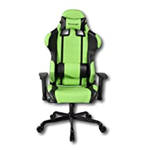 ViscoLogic® Series Cayenne Gaming Racing Style Swivel Office Chair (Green & Black)