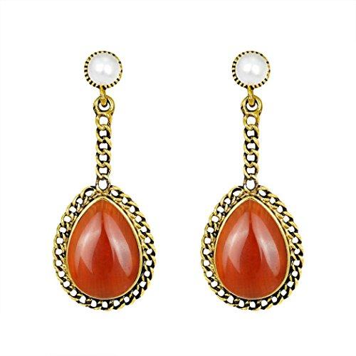 Alonea Beauty Earrings, Women Fashion Zircon Earrings Diamond-encrusted Love Heart Earring Ear Studs Vintage (Red❤️)