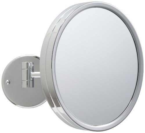 Jerdon JD12CF 9-Inch Adjustable Wall Mount Makeup Mirror with 3x Magnification, Chrome Finish by Jerdon (Image #1)