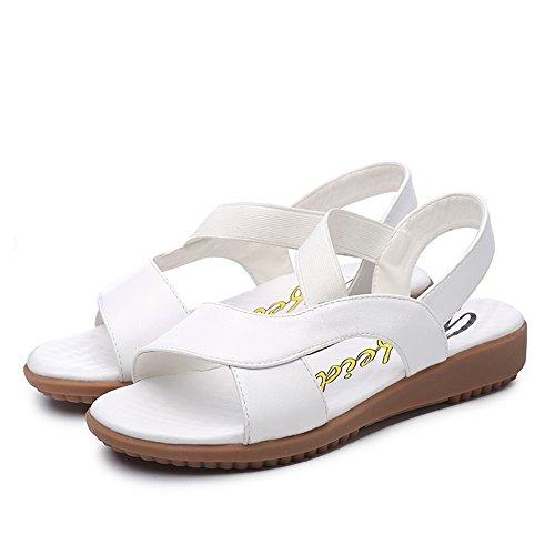 gravidanza dimensioni estate UK4 Slipper Colore CN36 bianca Bianca grandi donna Nero scarpe infermiera madre Sandali piatto antiscivolo EU36 CAICOLOR signore qttZ4xXwp
