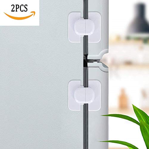 Refrigerator Fridge Freezer Lock Safety Child Lock for Door Cupboard Oven, NO Tools Needed,Easy to use, White