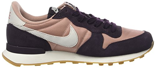 Rosa Med para Internationalist Bone Particle Port Pink Zapatillas Gum Light Brown NIKE Mujer Wine xSRWqff